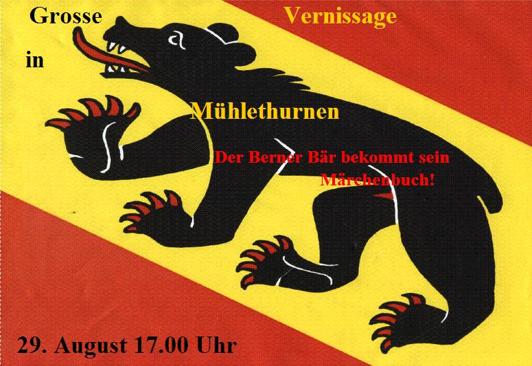 Grosse Vernissage in Mühlethurnen - Der Berner Bär bekommt sein Märchenbuch